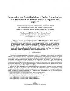 Integration and Multidisciplinary Design Optimization