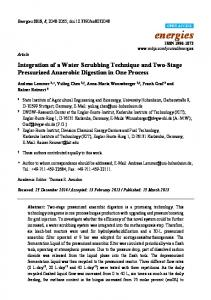 Integration of a Water Scrubbing Technique and