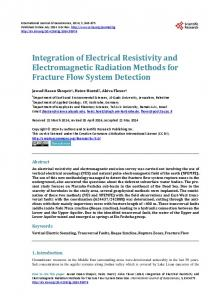 Integration of Electrical Resistivity and Electromagnetic Radiation
