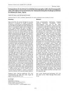 Integration of electrical resistivity tomography with electromagnetic