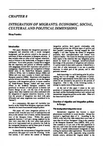 INTEGRATION OF MIGRANTS: ECONOMIC, SOCIAL, CULTURAL ...