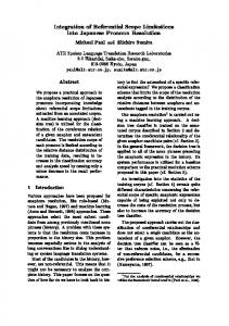 Integration of Referential Scope Limitations into Japanese PronoWn ...