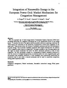 Integration of Renewable Energy in the European Power Grid: Market ...