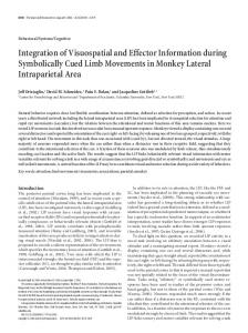 Integration of Visuospatial and Effector Information during ...