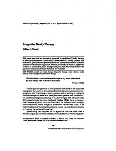 Integrative Family Therapy - Springer Link