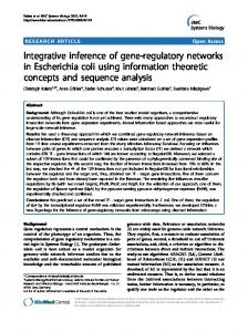 Integrative inference of gene-regulatory networks in Escherichia coli ...