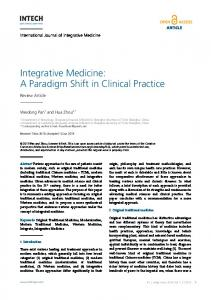 Integrative Medicine: A Paradigm Shift in Clinical Practice - InTechOpen