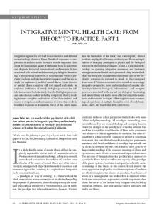 Integrative Mental Health Care - CiteSeerX