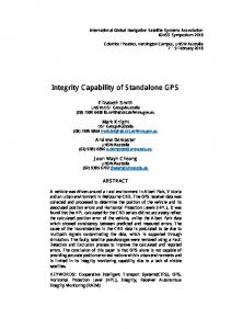 Integrity Capability of Standalone GPS - (IGNSS) 2018
