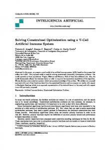 INTELIGENCIA ARTIFICIAL Solving Constrained Optimization using a ...