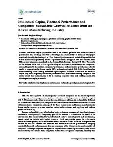 Intellectual Capital, Financial Performance and Companies ... - MDPI