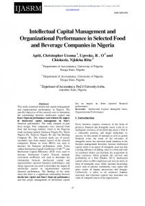 Intellectual Capital Management and Organizational