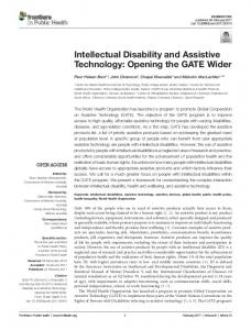Intellectual Disability and Assistive Technology - Semantic Scholar