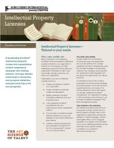 Intellectual Property Licenses - Lominger