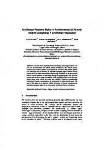 Intellectual Property Rights in Environmental ...