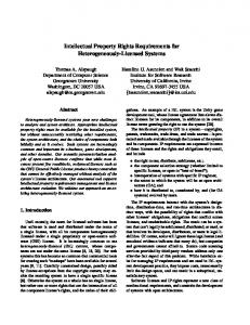 Intellectual Property Rights Requirements for Heterogeneously ...