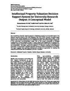 Intellectual Property Valuation Decision Support