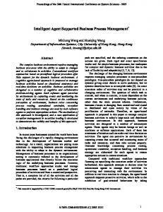 Intelligent Agent Supported Business Process ... - Semantic Scholar