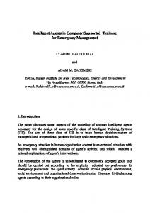 Intelligent Agents in Computer Supported Training for Emergency ...