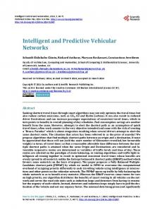 Intelligent and Predictive Vehicular Networks - Semantic Scholar