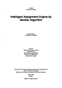 Intelligent Assignment Engine by Genetic Algorithm
