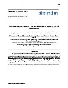 Intelligent Control Frequency Microgrid in Islanded ...
