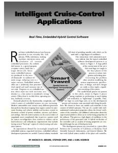 Intelligent cruise-control applications - Real-time ... - IEEE Xplore