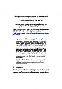 Intelligent Decision Support System for Breast Cancer - Rahul Kala