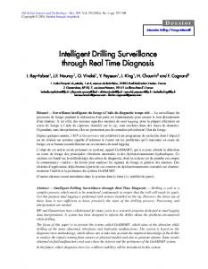 intelligent drilling surveillance through real time ...