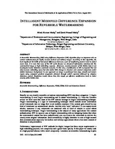 intelligent modified difference expansion for ... - Aircc Digital Library
