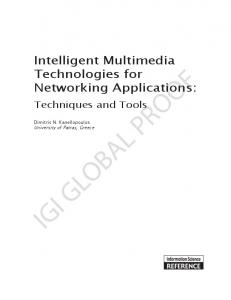Intelligent Multimedia Technologies for Networking