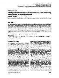 Intelligent network security assessment with