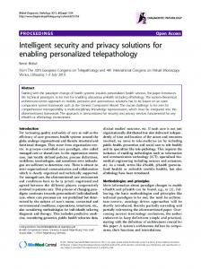 Intelligent security and privacy solutions for