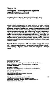 Intelligent Technologies and Systems of Material ... - Springer Link