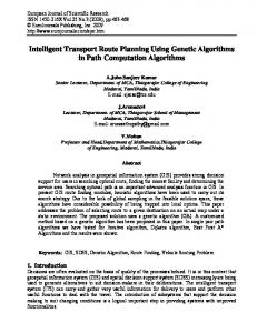 Intelligent Transport Route Planning Using Genetic Algorithms in Path ...