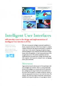 Intelligent User Interfaces - arXiv