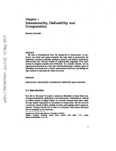 Intensionality, Definability and Computation