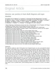 Intensive care practices in brain death diagnosis ... - Wiley Online Library