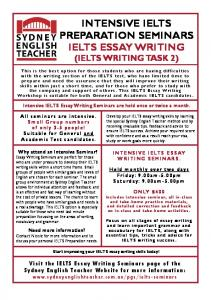 intensive ielts preparation seminars ielts essay writing