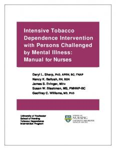 Intensive Tobacco Dependence Intervention with Persons - American ...