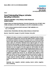 Intent Understanding Using an Activation Spreading Architecture - MDPI