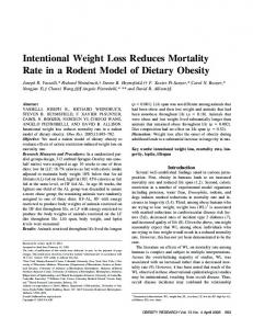 Intentional Weight Loss Reduces Mortality Rate ... - Wiley Online Library