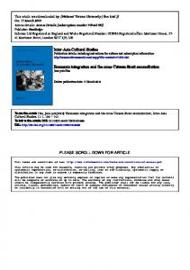 Inter-Asia Cultural Studies Economic integration and the cross-Taiwan ...