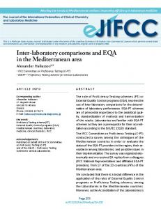 Inter-laboratory comparisons and EQA in the Mediterranean area - IFCC
