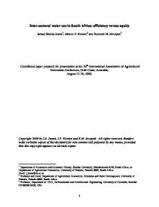 Inter-sectoral water use in South Africa: efficiency ... - AgEcon Search