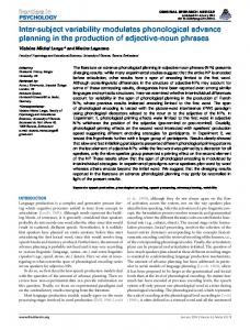Inter-subject variability modulates phonological ... - ScienceOpen