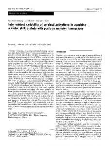 Inter-subject variability of cerebral activations in ... - Springer Link