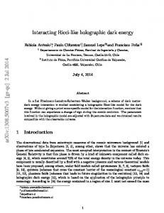 Interacting Ricci-like holographic dark energy