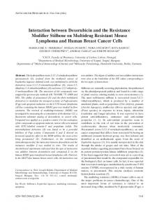 Interaction between Doxorubicin and the Resistance Modifier Stilbene ...