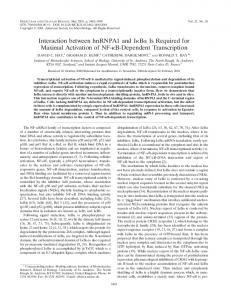Interaction between hnRNPA1 and IκBα Is Required for Maximal ...